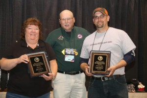 Meg Hammond and Chris Wright share the 2016 Snowmobiler of the Year honors this year.