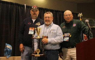 Winner of the new Delegates Class at the NYSSA 7th Annual Vintage Sled Show was Ken Radley , with a 1973 Arctic Cat Puma 440. Photo by Jane Chaddock.