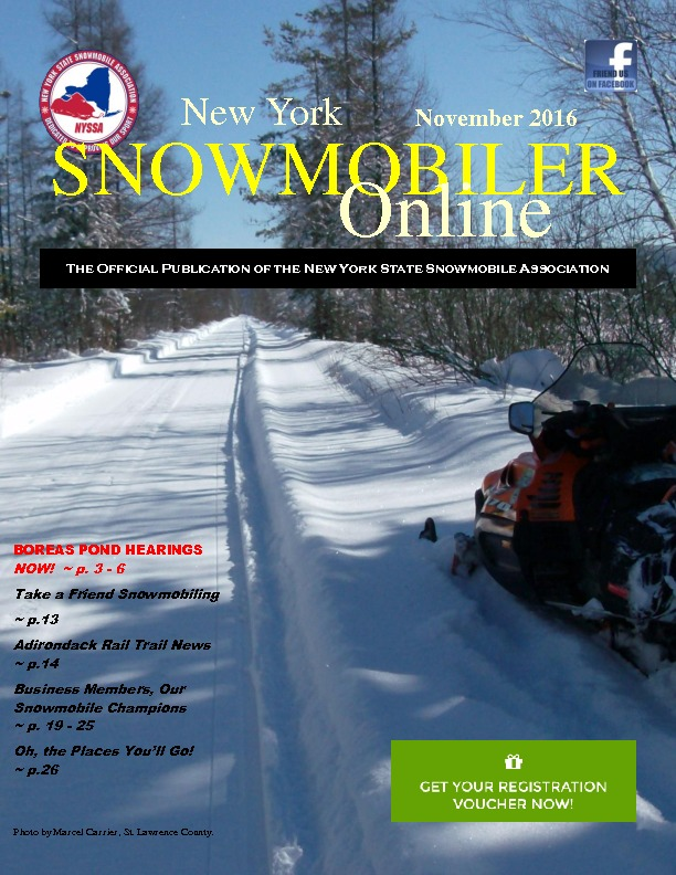 Urgent! Boreas Ponds down to the wire - in NY Snowmobiler Magazine
